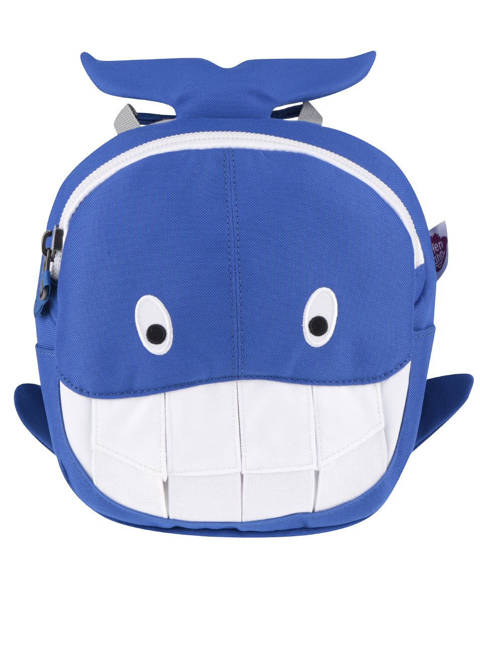 d2efd9bd3d Bielo-modrý batoh v tvare veľryby Affenzahn