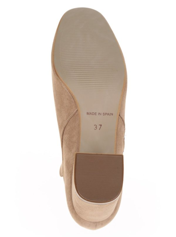 Béžové členkové topánky v semišovej úprave OJJU