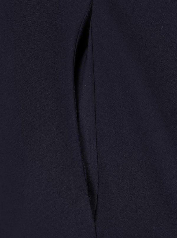 Tmavomodré šaty na ramienka s gombíky na chrbte Closet