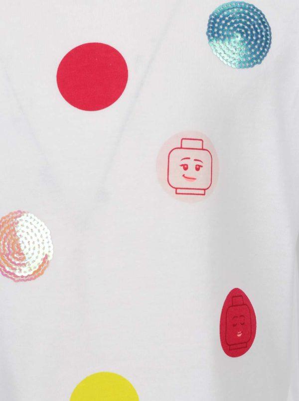 Krémové dievčenské bodkované tričko LEGO Wear Tallys