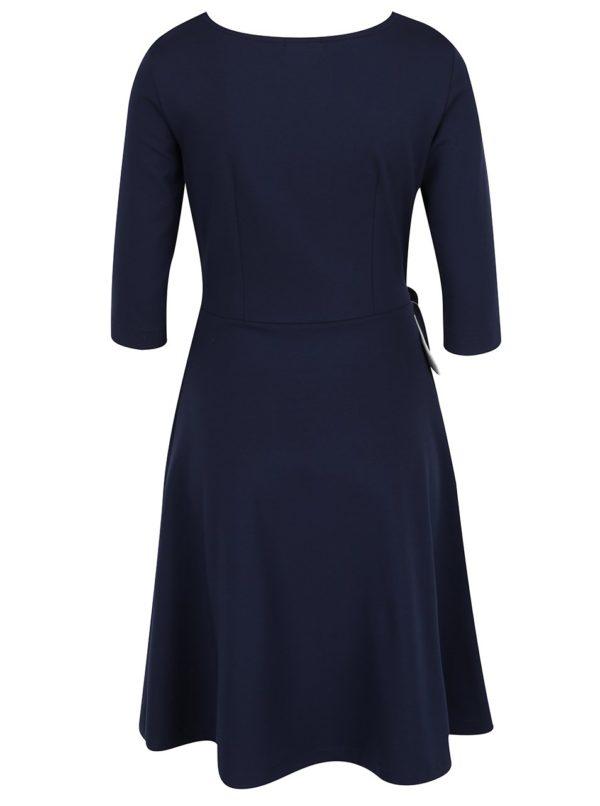 Tmavomodré šaty s mašľou Jana Minaříková