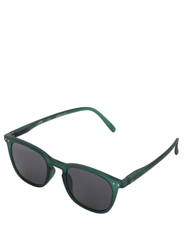 Zelené unisex slnečné okuliare s čiernymi sklami IZIPIZI #E