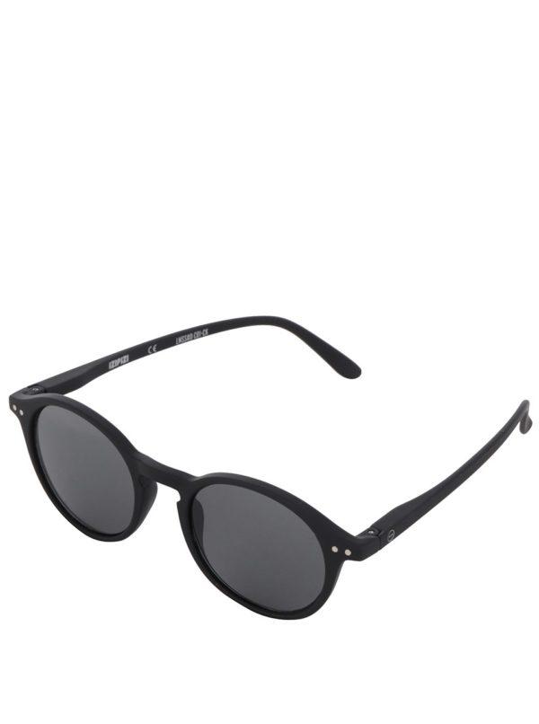 Čierne unisex slnečné okuliare s čiernymi sklami IZIPIZI #D