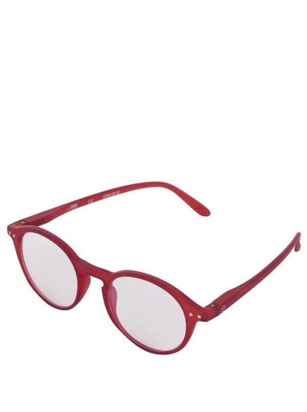 Červené unisex ochranné okuliare k PC IZIPIZI #D