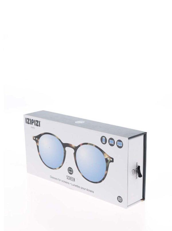 Čierno-hnedé vzorované unisex ochranné okuliare k PC IZIPIZI #D