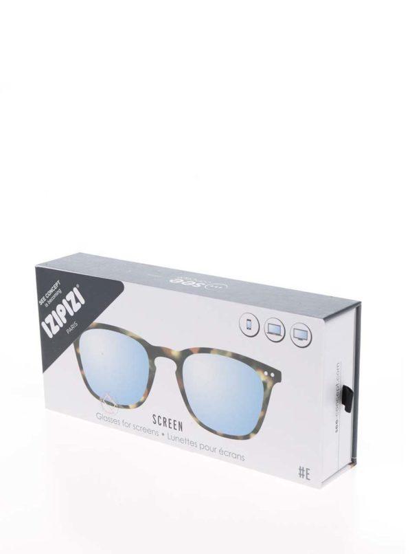 Čierno-hnedé vzorované unisex ochranné okuliare k PC IZIPIZI #E