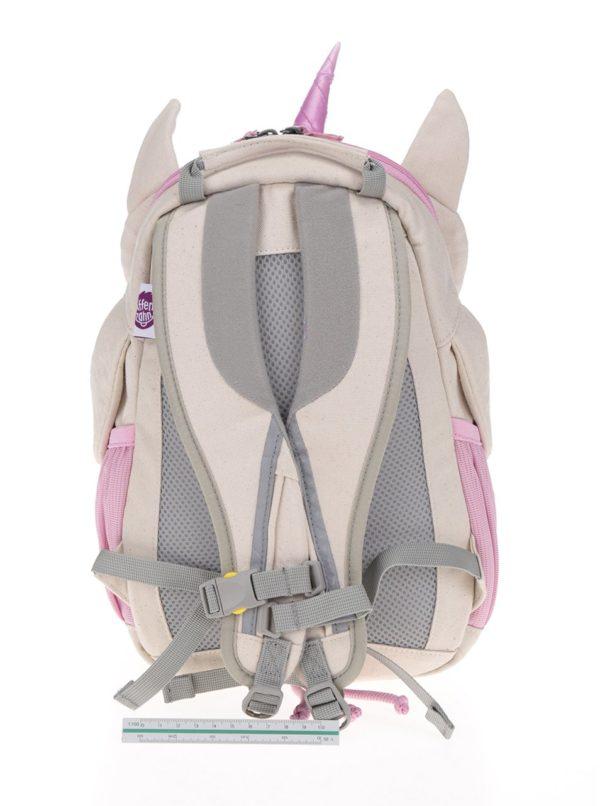 Krémovo-ružový batoh v tvare jednorožca Affenzahn 8 l