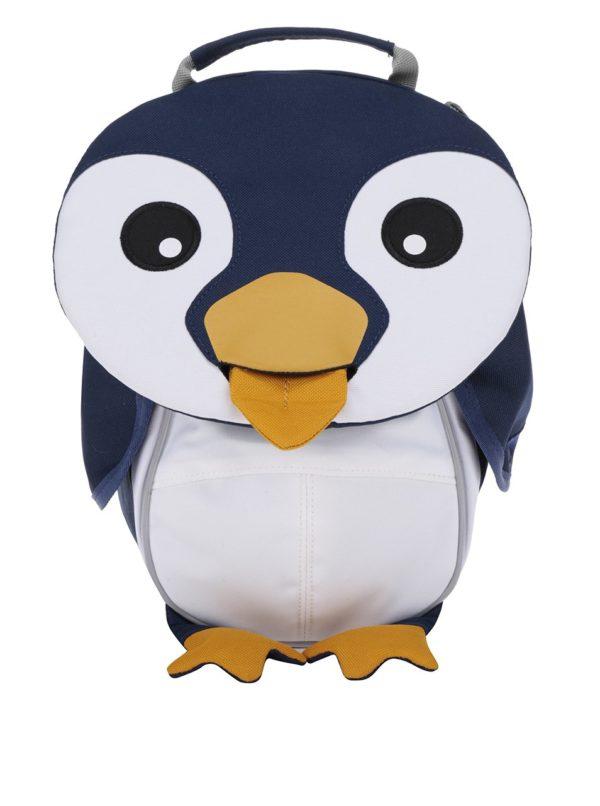 Tmavomodrý batôžtek v tvare tučniaka Affenzahn 4 l