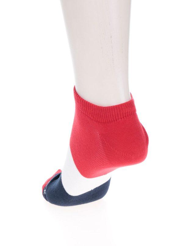 Modro-červené unisex členkové ponožky Fusakle Jachtár