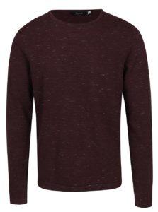 Vínový melírovaný sveter Jack & Jones Premium Mikey