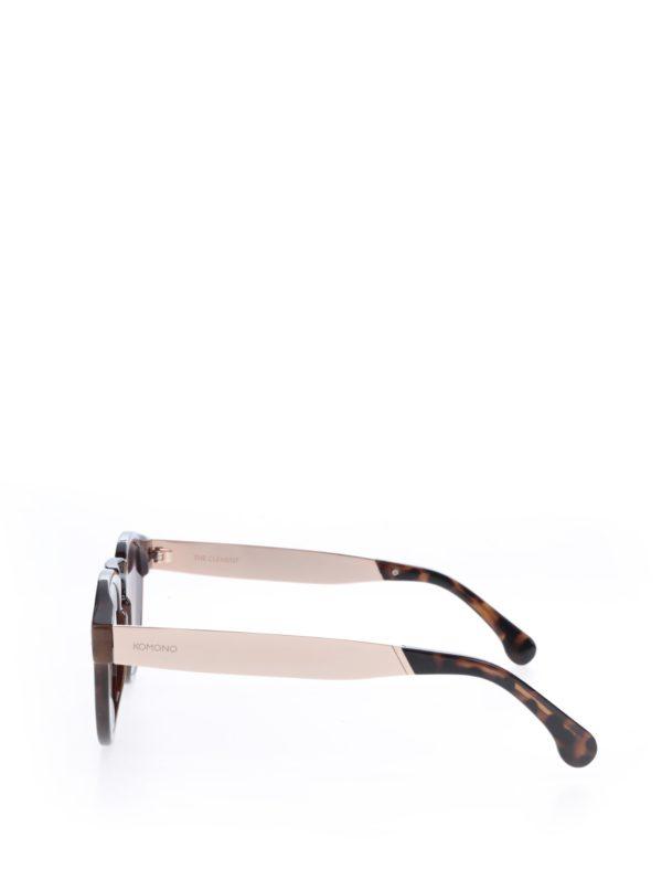 Tmavohnedé dámske vzorované slnečné okuliare Komono Clement
