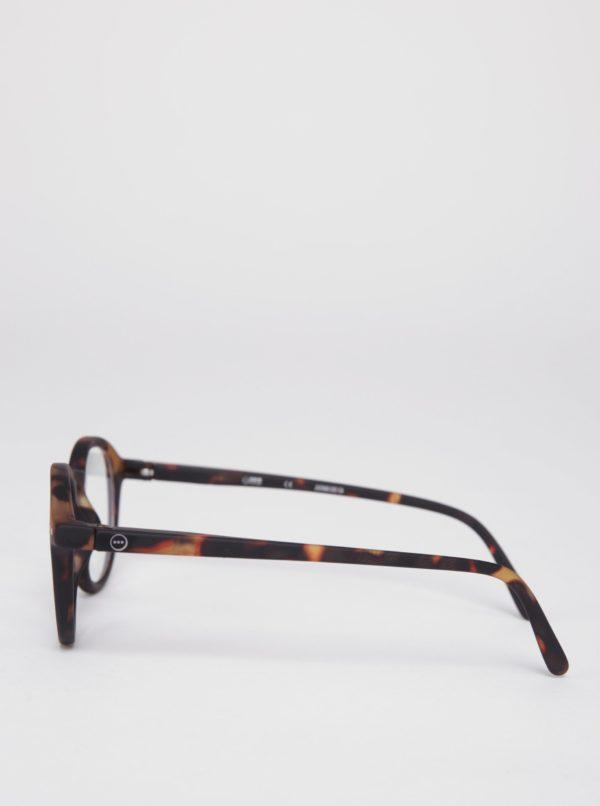 Hnedo-čierne detské ochranné okuliare k PC IZIPIZI  #D