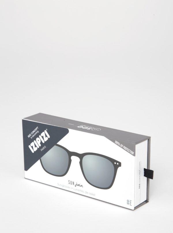 Čierne detské slnečné okuliare s tmavými sklami IZIPIZI  #E