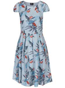 Svetlomodré šaty s tropickým vzorom Dolly & Dotty Vanessa