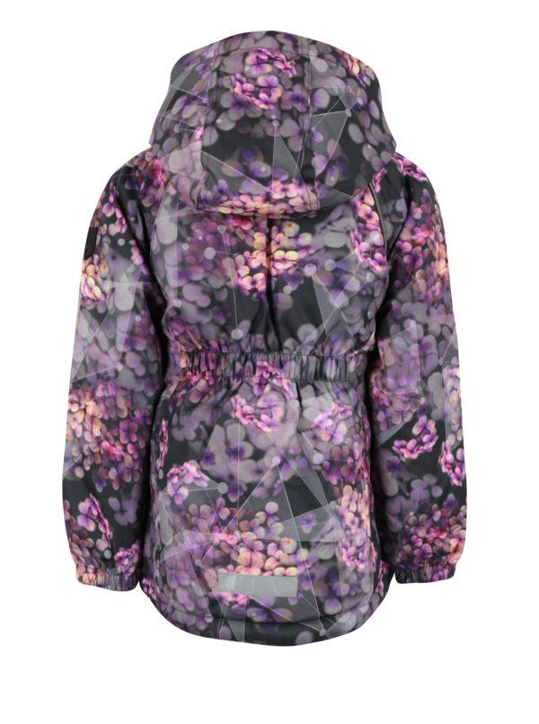 Čierno-fialová dievčenská zimná bunda name it Rise