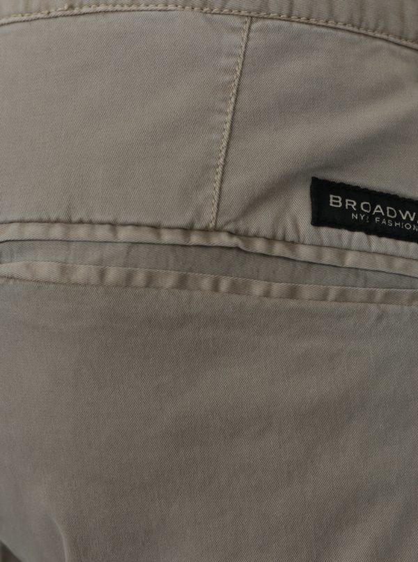 Béžové pánske chino nohavice Broadway Wayne