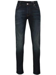 Tmavomodré pánske tapered fit rifle Cross Jeans