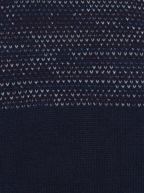 Tmavomodrý slim fit sveter s drobným vzorom Blend