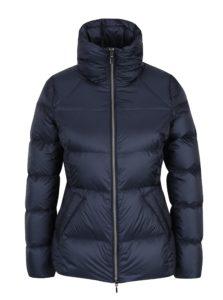 Tmavomodrá dámska prešívaná páperová bunda Geox