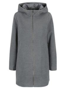 Sivý kabát s kapucňou VILA Daniella