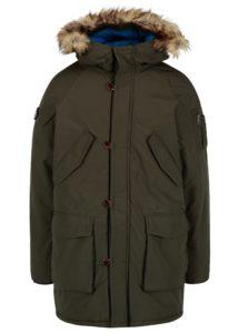 Tmavozelená zimná bunda Jack & Jones Forest
