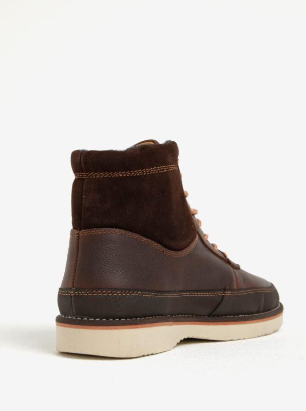 53e7b91a3 Tmavohnedé pánske kožené členkové topánky GANT Huck | Moda.sk