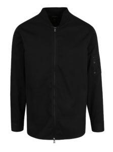 Čierna tenká bunda so zipsom ONLY & SONS Theodore