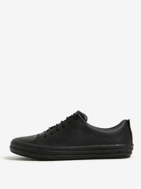 Čierne dámske kožené nízke tenisky Camper