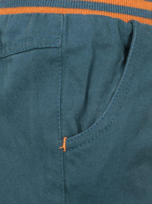 Oranžovo-modré chlapčenské nohavice s pružným pásom 5.10.15.