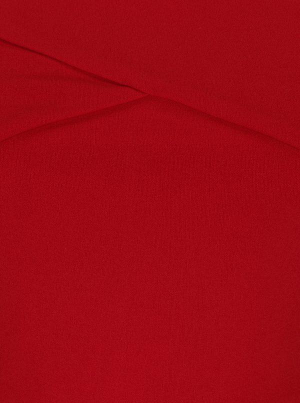 Červené maxišaty s rozparkom AX Paris