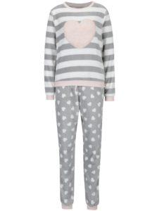 Ružovo-sivé pyžamo Dorothy Perkins