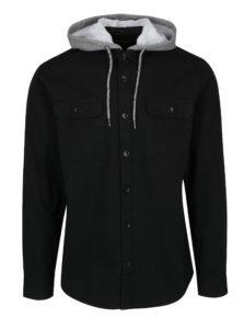 Čierna košeľa s odnímateľnou kapucňou ONLY & SONS Bertram