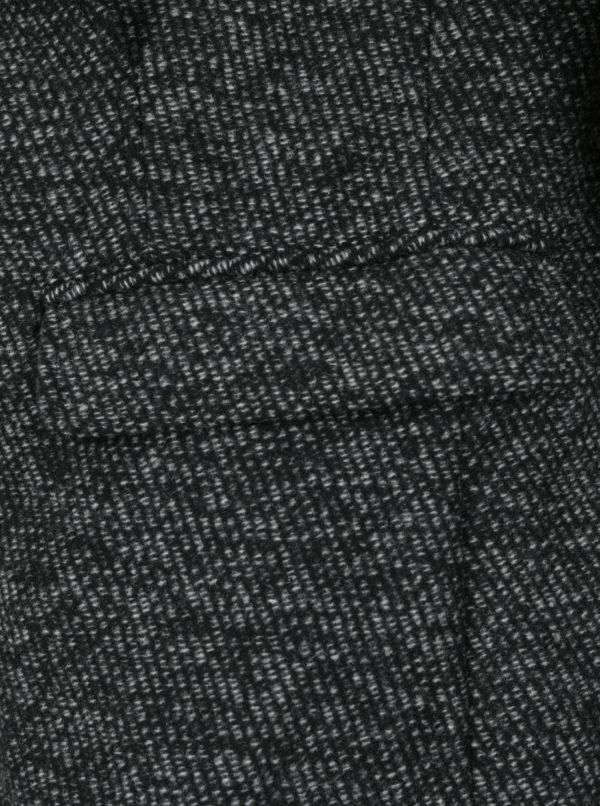 Sivý melírovaný kabát s prímesou vlny Selected Homme Mosto