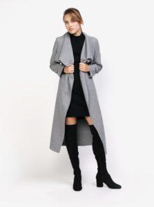 Svetlosivý tenký kabát MISSGUIDED