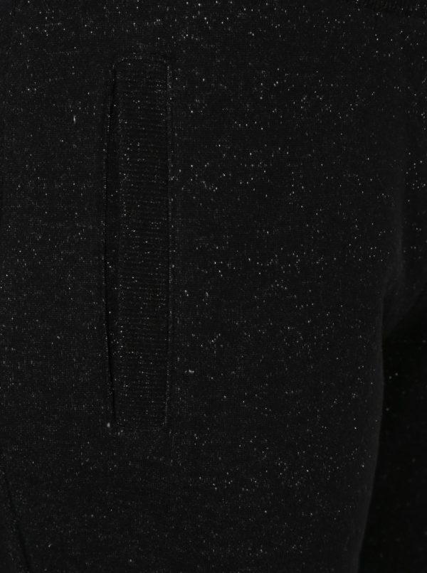 Čierne dámske tepláky s trblietavým efektom Superdry Luxe