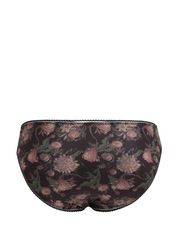 Čierne kvetované nohavičky Y.A.S Flora