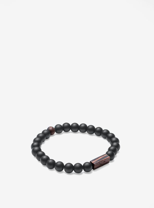 Čierno–hnedý náramok BeWooden Nox Wenge Bracelet