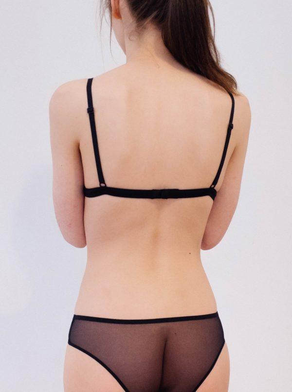 Čierne priesvitné nohavičky NALU Underwear