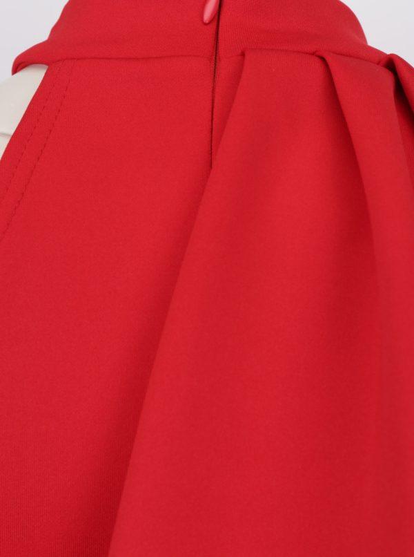 ead2d944a8da Červené puzdrové šaty s volánom ZOOT