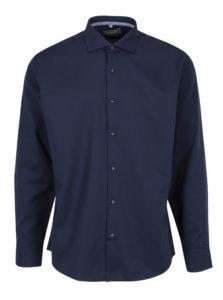 Tmavomodrá pánska formálna košeľa Seven Seas