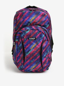 Fialový vzorovaný batoh LOAP Asso 20 l