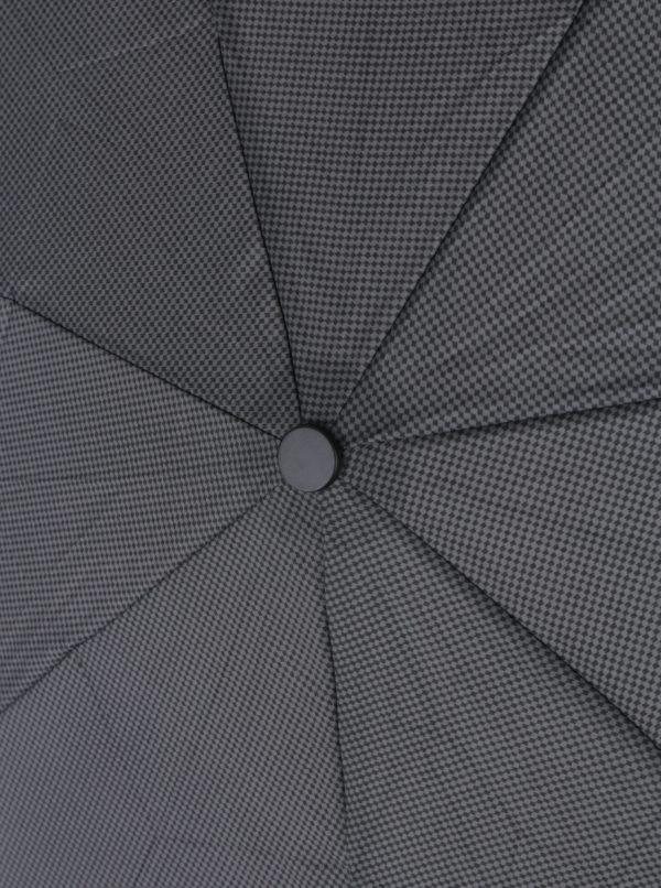 Sivo-čierny vzorovaný pánsky vystreľovací dáždnik Derby