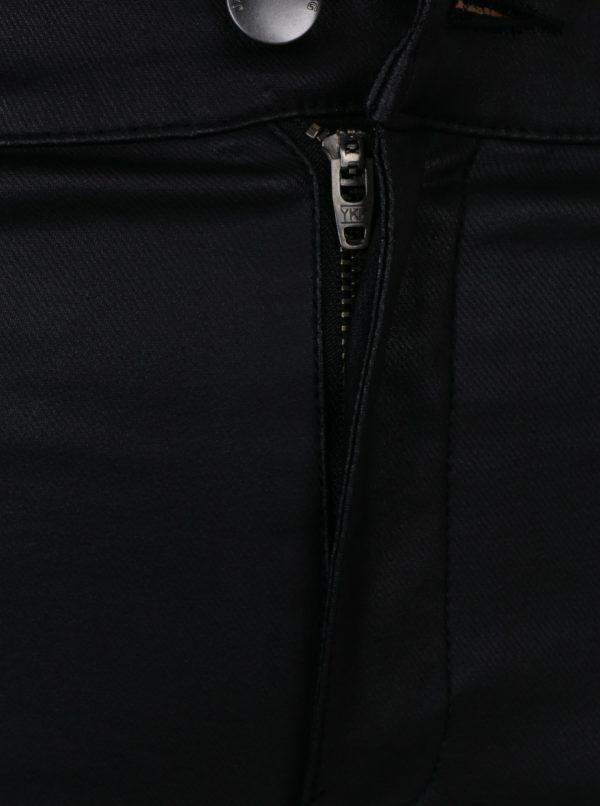 Čierne koženkové skinny nohavice Jacqueline de Yong Thunder