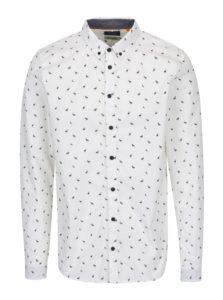 Krémová slim fit košeľa s jemným vzorom Blend