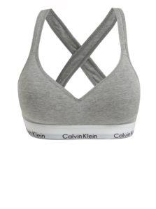 Sivá melírovaná športová podprsenka Calvin Klein Underwear