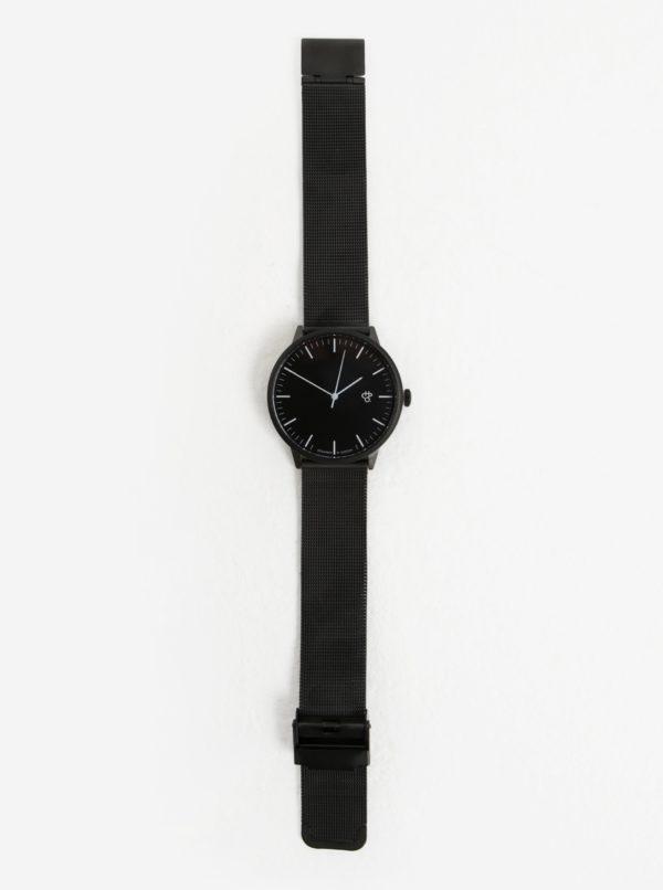 Hodinky s čiernym nerezovým remienkom CHPO Nando Noir