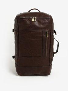 Tmavohnedý batoh/cestovná taška Bobby Black