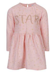 Ružové dievčenské šaty s dlhým rukávom a hviezdami 5.10.15.