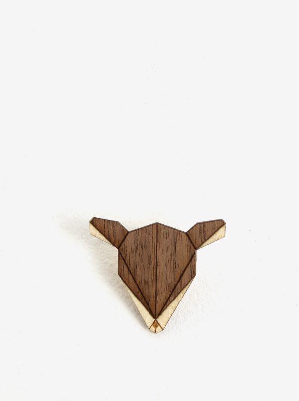 Drevená brošňa v tvare srny BeWooden Doe Brooch