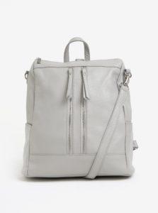 Svetlosivý dámsky kožený batoh KARA